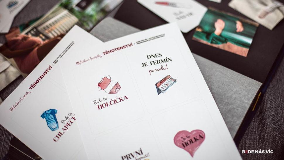 milníkové kartičky BUDE NÁS VÍC