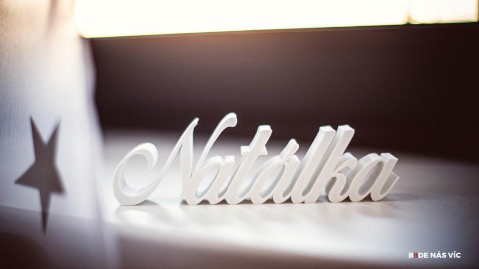 3D jméno jako dárek od nás