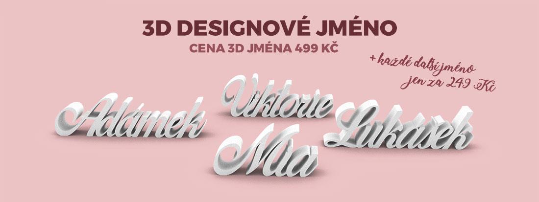 Vyzdobte pokojíček vašeho miminka 3D designovým jménem. Každé další jméno se slevou 50%.