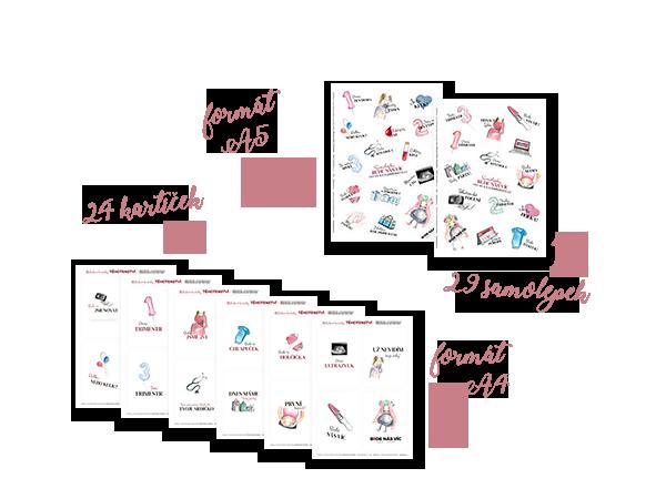 S nákupem našeho předporodního online kurzu získáte přístup kmnoha zajímavých bonusovým materiálů - těhotenské samolepky, milníkové kartičky, seznam věcí doporodnice či seznam věcí, které je potřeba pořídit pro vaše miminko.