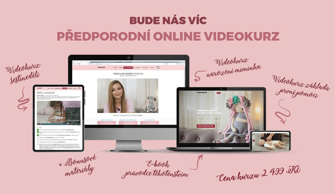 Kurz BUDE NÁS VÍC je předporodní online videokurzu vytvořený namíru odborníky spraxí. Kurz lze shlédnout vez stresu, efektivně zpohodlí domova ve společnosti svého partnera.
