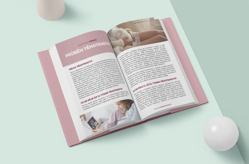 V e-booku Průvodce těhotenstvím se dozvíte informace otom, jak těhotenství probíhá, co se může zkomplikovat, naco si dát pozor.
