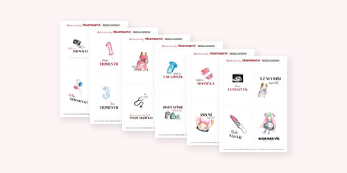 Se zakoupením předporodního online kurzu BUDE NÁS VÍC získáte spoustu bonusových materiálů zdarma. Jedním takovým jsou těhotenské milníkové kartičky.